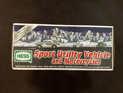 Nib 2004 Hess Gasoline Sport Utility Vehicle And Motorcycles Hess Truck New