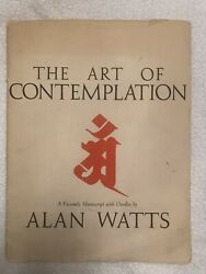 The Art Of Contemplation By Alan Watts Signed 795/1000