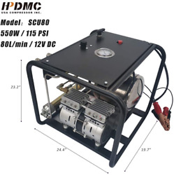 12v Driven Automatic Air Compressor Diving Breathing With 50ft Hose + Regulator