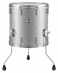 Pearl Music City Custom Reference Pure 14x14 Floor Tom Drum Classic Silver Spark