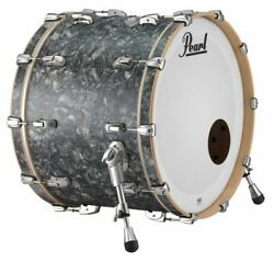 Pearl Music City Custom Reference Pure 26x16 Bass Drum W/ Mount Pewter Abalone R