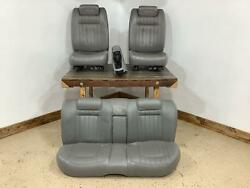 94-96 Chevy Impala Ss Full Leather Seat Set W/ Console Light Gray 41usee Notes