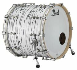 Pearl Music City Custom Reference Pure 24x18 Bass Drum W/ Mount Black N White Oy