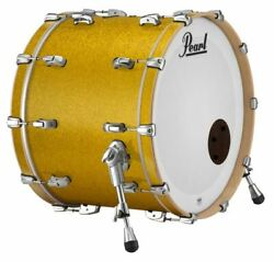 Pearl Music City Custom Reference Pure 26x16 Bass Drum W/ Mount Vintage Gold Spa