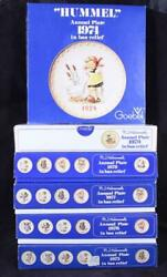 Lot Of 6 Goebel Hummel Annual Collector's Plates 1974-1979 In Original Boxes