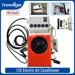 Universal 12 Volt A/c Air Conditioner For Car Tractor Trucks Motorhome Red