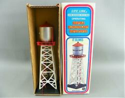 Vintage Life-like Ho Scale Railroad Layout Scenery Bedford Water Tower W/ Light