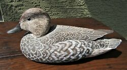 Hand Carved Painted Wood Duck Decoy By Best In World Carver Leonard Rousseau