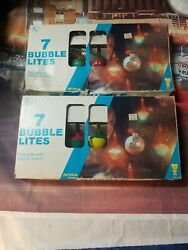 13 Vintage Noma Tulip Glass Candle Style Bubble Christmas Tree Lights Working