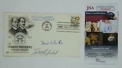 Chuck Yeager Frank Whittle Scott Crossfield Signed First Day Cover Fdc Jsa Coa