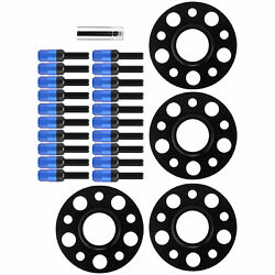 Wheel Spacer Kit 15mm Blue For Benz W202‑c Class‑c220 1994‑2000