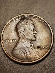 1922 No D Strong Reverse Lincoln Wheat Cent Penny Key Date Mint Error Coin