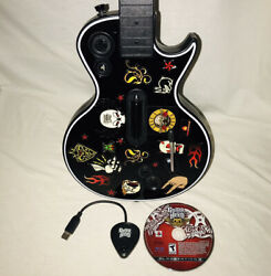 Ps3 Guitar Hero Les Paul Guitar With Dongle Game - New Sync Capacitor - Working