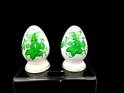 Herend Chinese Bouquet Green Salt And Pepper Shaker