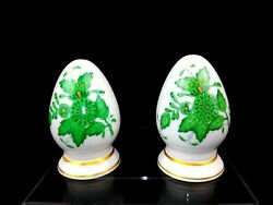 Herend Chinese Bouquet Green Antique Salt And Pepper Shaker