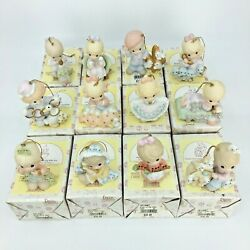 Precious Moments Ornaments 12 Days Of Christmas Complete Set 1-12 Lot And Boxes