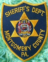 Montgomery County Pa Sheriff's Department Police Patch 134 Mm X 105 Mm - New