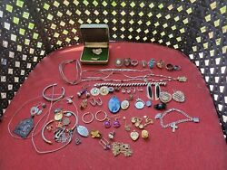 Vintage Gold-filled And Sterling Silver Jewelry Lot For Scrap Or Wear 283 Grams A2