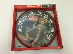Nib Classic Coca-cola Indoor/outdoor Thermometer Size 12and039and039
