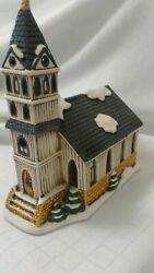 Lefton Colonial Christmas Village First Church Holiday 07333 1989 Holiday  C2