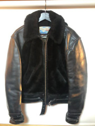 Aero Leather Grizzly Jacket Black Color Size 40 Used