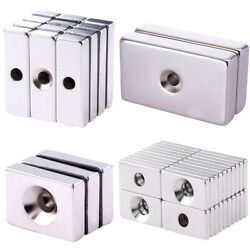 Rectangle Neodymium Magnets Square Magnets With Countersunk Ring Hole Diy