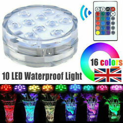 2x Led Submersible Light Waterproof Hot Tub Underwater Lights Swimming Pool Pond