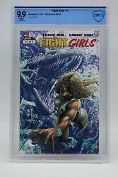 Fight Girls 2021 1 Mike Deodato Cover B Cbcs 9.9 Blue Label White Pages