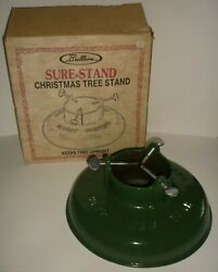Vintage Brillion Sure Stand Cast Iron Christmas Tree Stand Happy New Year And Box