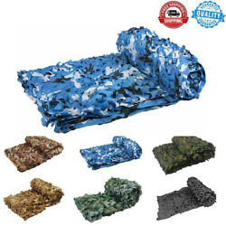 Blue Camo Net Military Hide Shooting Fishing Camping Hide Travel Camouflage Net