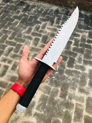17 Inches Handmade D2 Lile First Blood Tribute Knife Rambo With Leather Cover