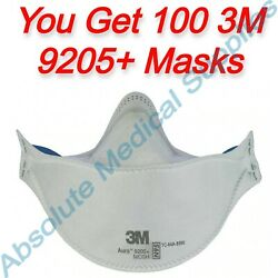 100-pack 3m Aura N95 Protective Disposable Respirator Face Mask 9205+