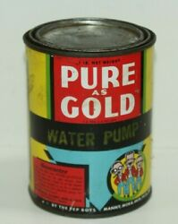 Vintage Pep Boys Can - Pure As Gold - Water Pump-with Contents