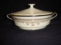 Lenox Lace Point Round Covered Vegetable Dish