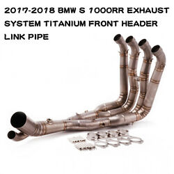 [kh2005]2017-2018 Bmw S 1000rr Exhaust System Titanium Front Header Link Pipe