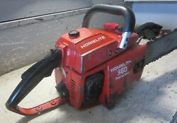 Vintage Collectible Homelite 360 Chainsaw With 24 Bar