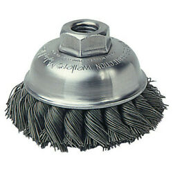 Weiler 13156 3-1/2 Single Row Wire Cup Brush, .23 Wire, 5/8-11 Ah, Case Of 30