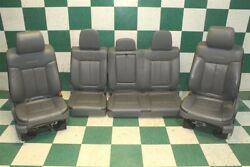 12' F150 Platinum Gray Leather Dual Power Heated Cooled Bucket Seats Backseat