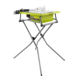 Tile Saw Wet 7 In Blade With Stand Diamond Bevel Cut Rip Miter Cutting New Ryobi