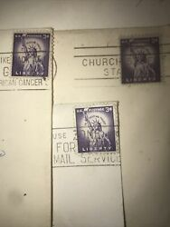 Rare 3 Cent Liberty Us Postage Stamp Used - Museum And Collection Worthy -