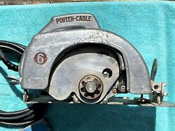 Rare Porter Cable No. 125 Homemaster 6 Inch Circular Saw W 4 Blades As Pictured