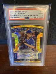 2015 Panini Prizm Jacob Degrom Auto Gold Rookie Silver Refractor - Low Pop 1 /10