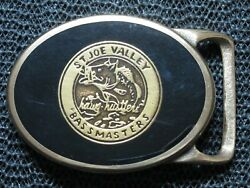 Tech Ether X Colonial Leather St Joe Valley Bass Masters Belt Buckle Vintage