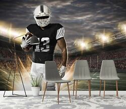 3d Rugby Player Zhu2405 Wallpaper Wall Mural Removable Self-adhesive Zoe