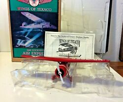 Wings Of Texaco 1929 Lockheed Air Express 1st In The Series Red Plane Bank Metal