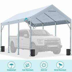 10and039x20and039 Adjustable Carport Heavy Duty Car Shelter Storage Canopy Boat Cover Shed