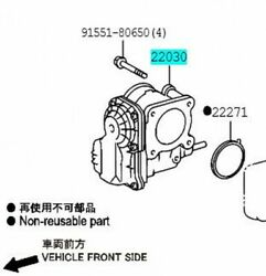 Toyota Genuine 22030-62020 Throttle Body Assy And Position Sensor Hilux Surf