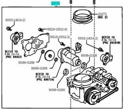 Toyota Genuine 22030-46210 Throttle Body Assy And Position Sensor Altezza Crown