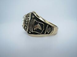 Ring Solid 10k Gold Ring 101st Airborne Division Ring Us Size 10