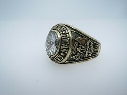 Ring , Solid 10k Gold Ring , Disabled American , Veterans, Us Size 13.5